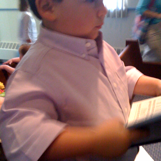 Joshua With A Hymnal